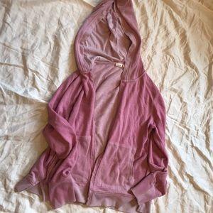 Vintage wash lavender purple Gap spring hoodie M